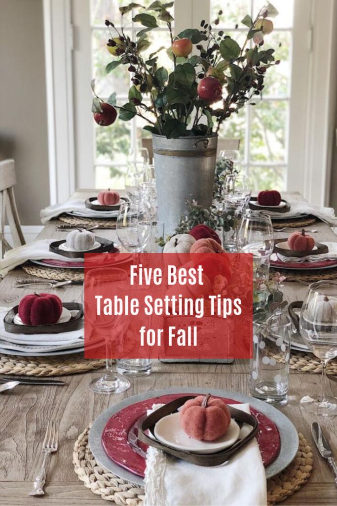 Table set for fallin fall colors.