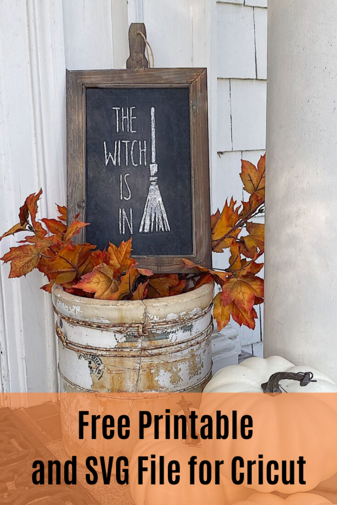Pinterest pin for Free Halloween Printable