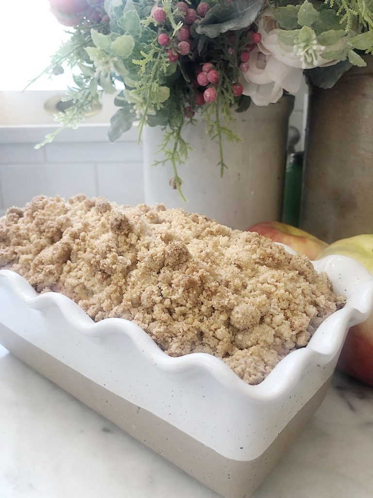 apple bread with brown sugar topping