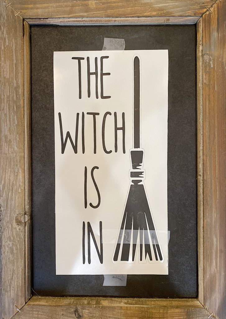 This is how you use a stencil to make a Halloween themed chalkboard