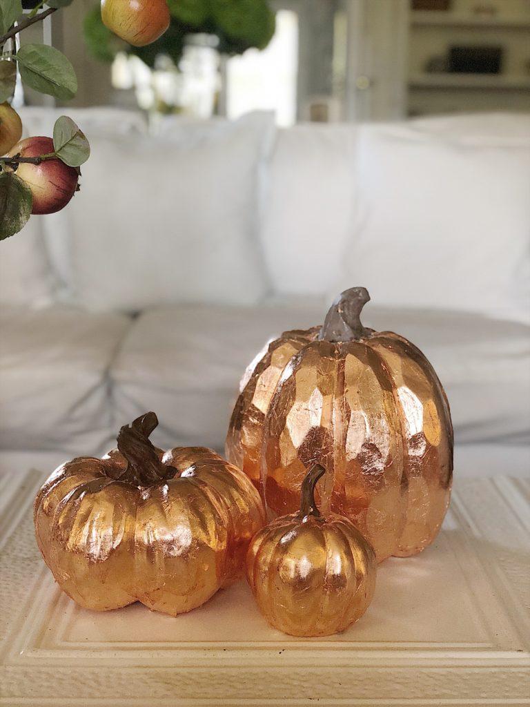 copper leaf pumpkins