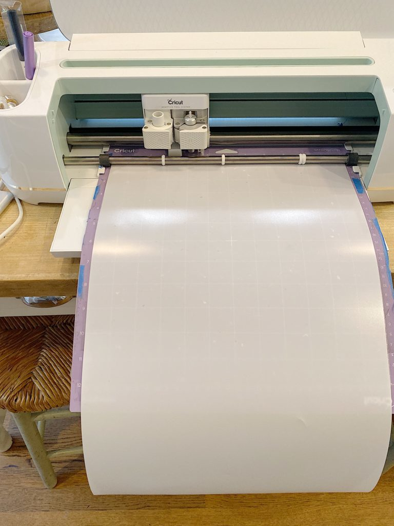 This is my Cricut machine cutting a stencil