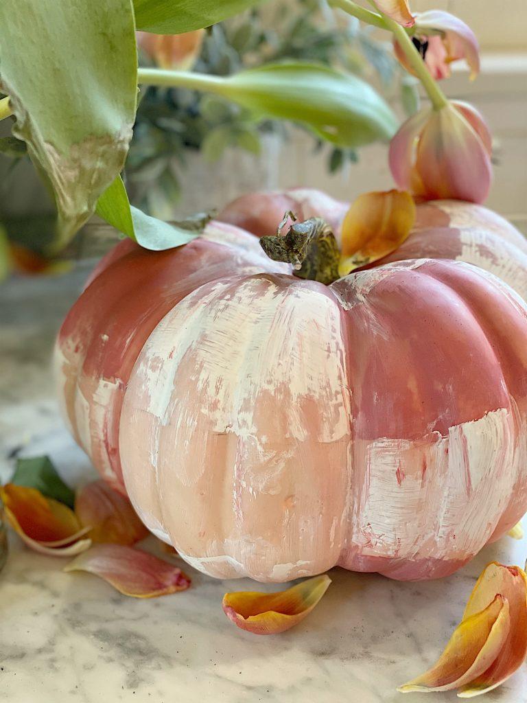 Painted plaid pumpkin