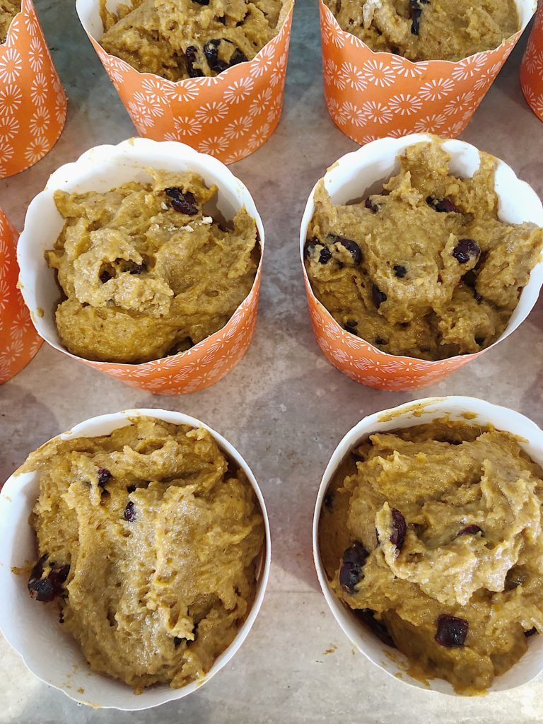 These pumpkin muffins are wonderful. I love how great they look in these muffin cups.
