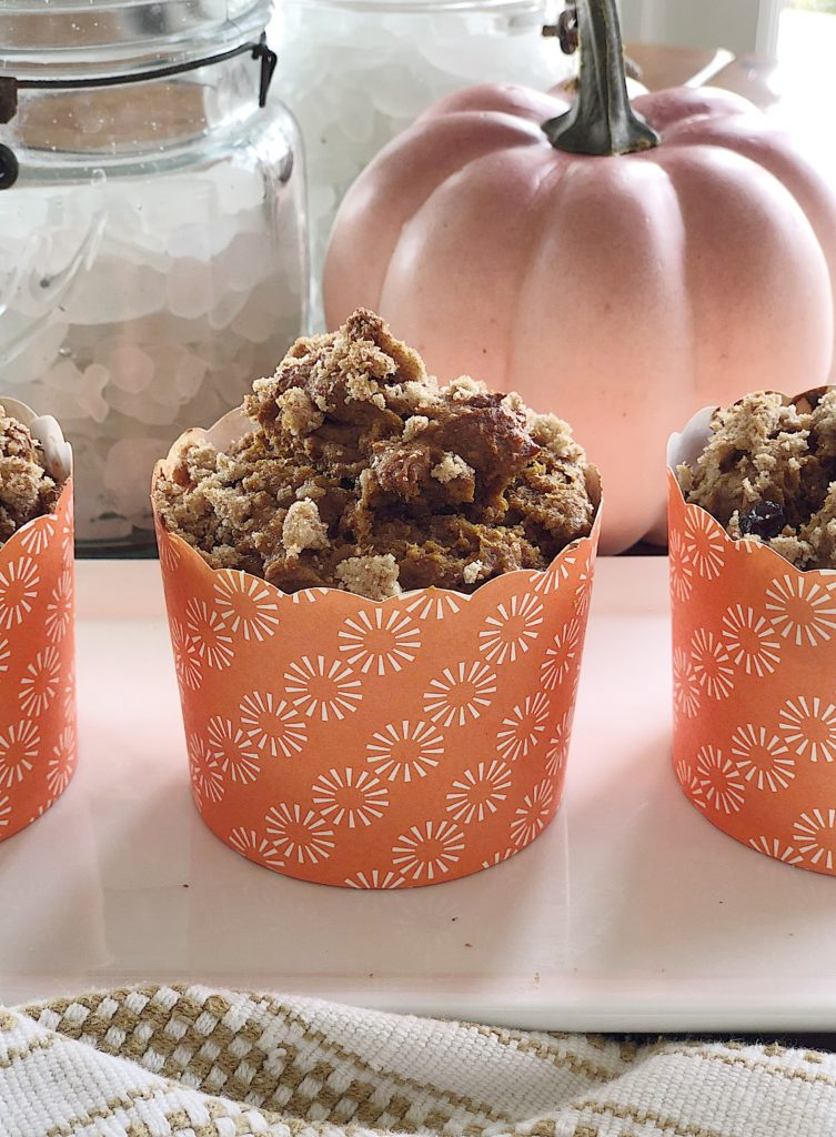 These pumpkin cranberry muffins are really easy to make. I love that they taste as if they were much harder to make.