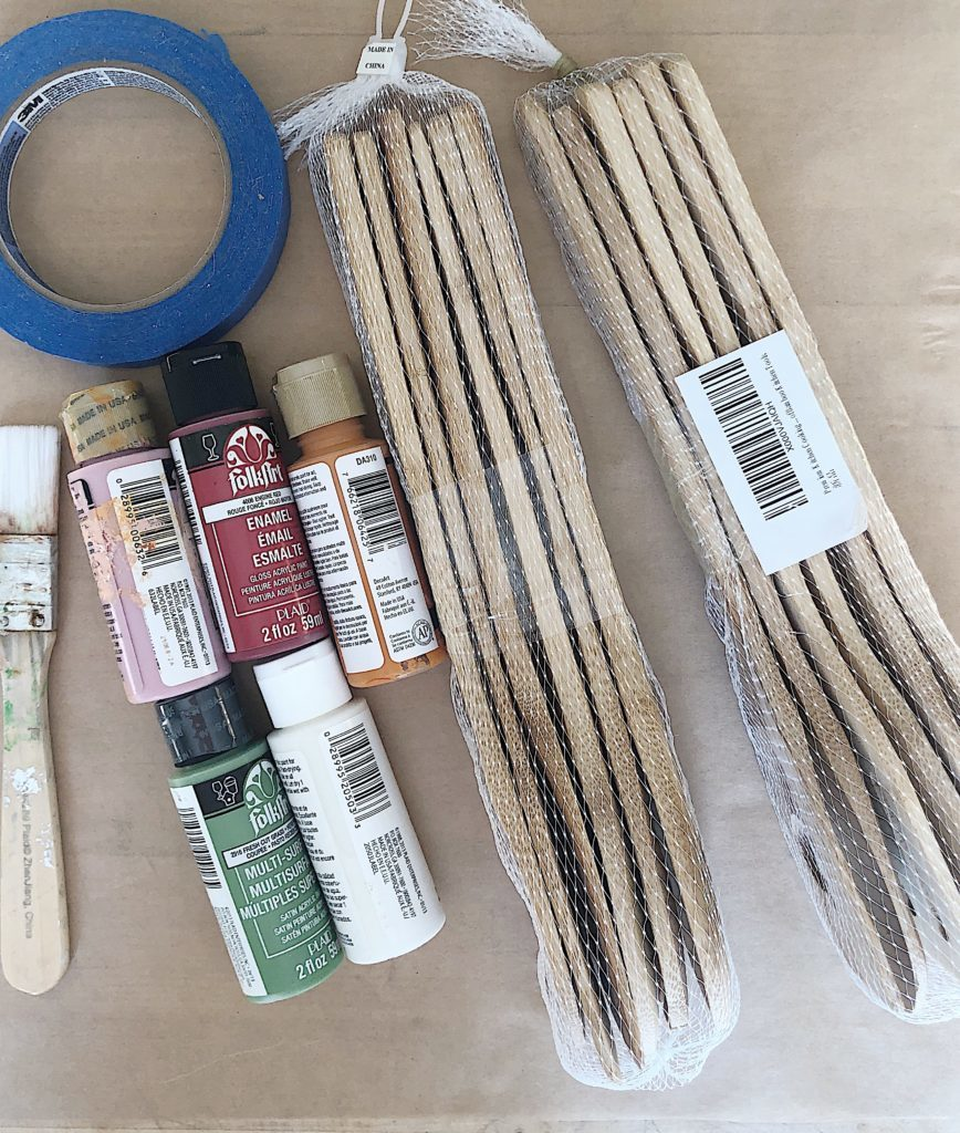 materials needed for painted wooden handle spoons