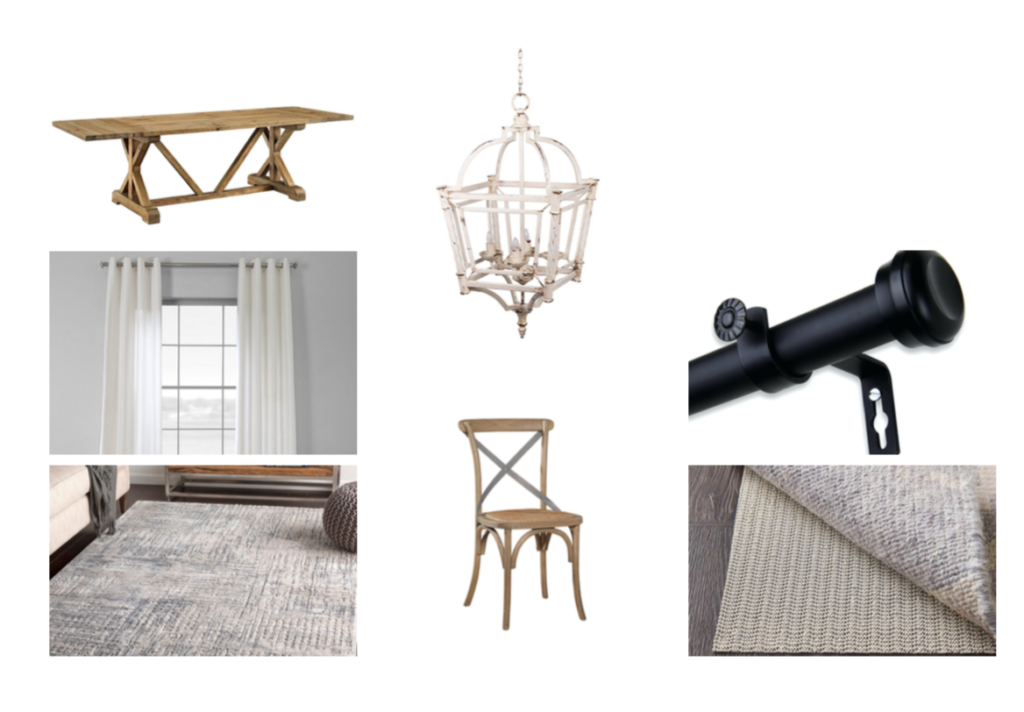 Overstock mood board for dining room