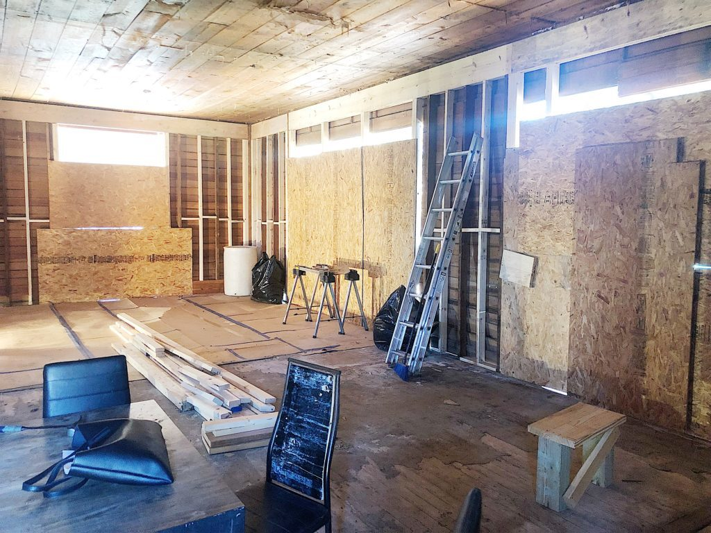 living area in waco fixer upper home