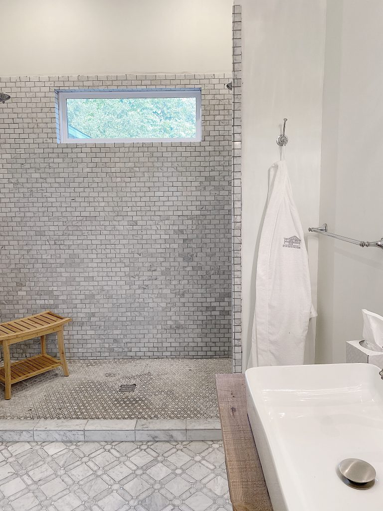 airbnb master bathroom shower
