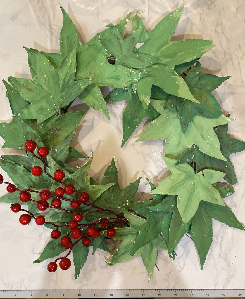 painted green wreath