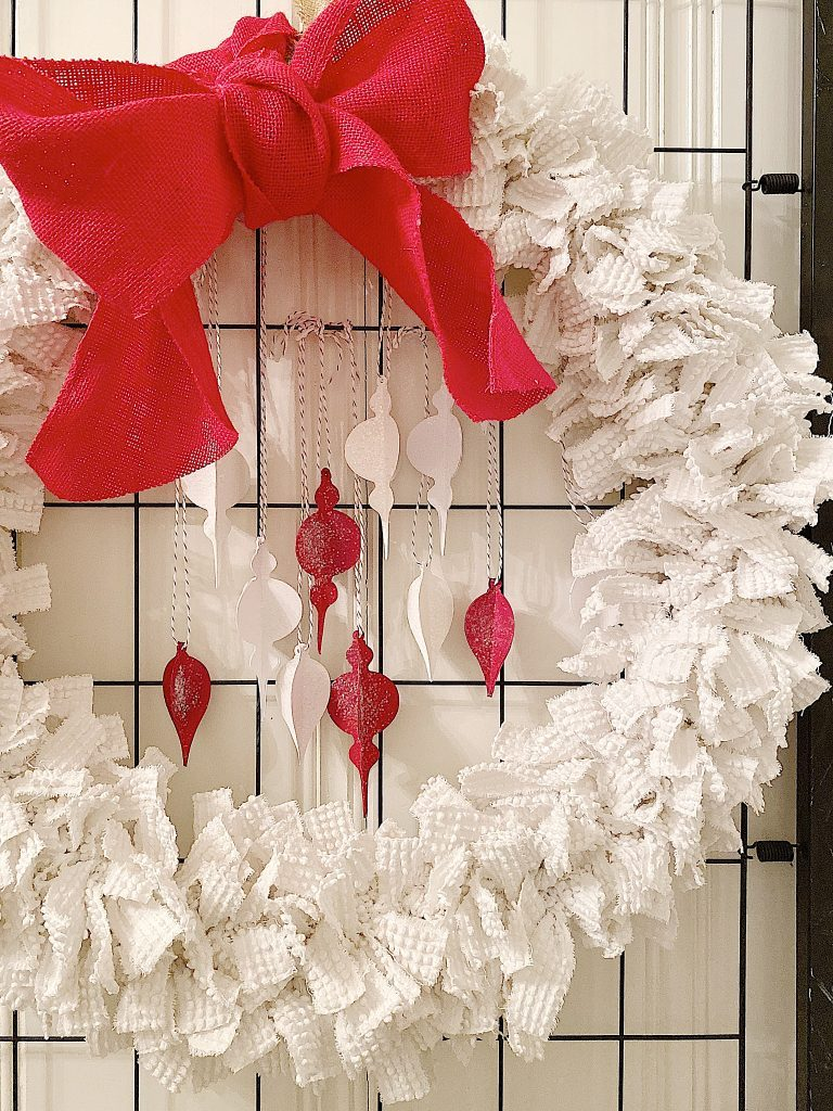 wreath with paper ornaments