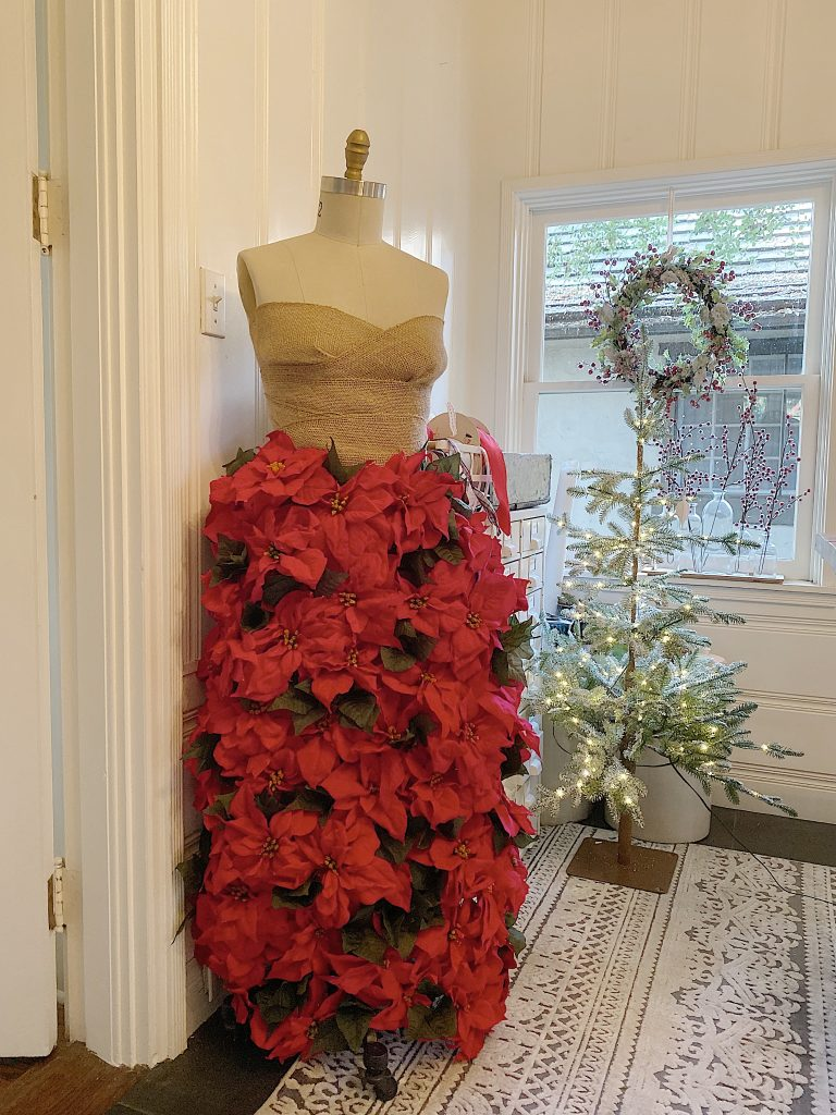 dress form poinsettia dress form