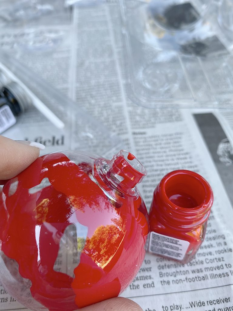 enamel paint ornament