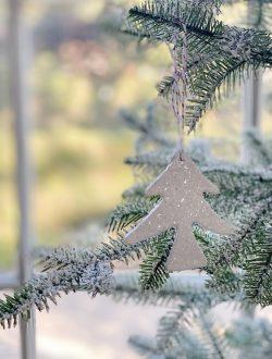 glitter dry christmas ornament