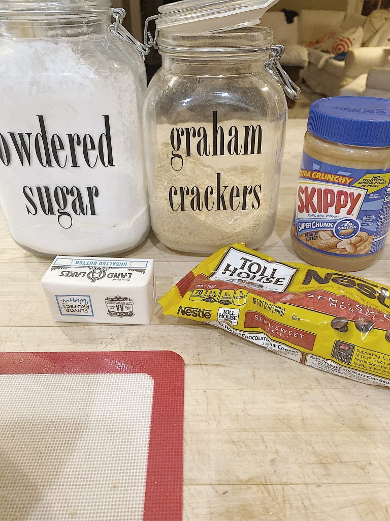 ingredients for peanut butter fudge