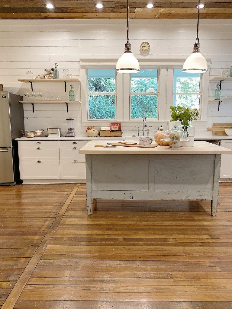 white kitchen in home