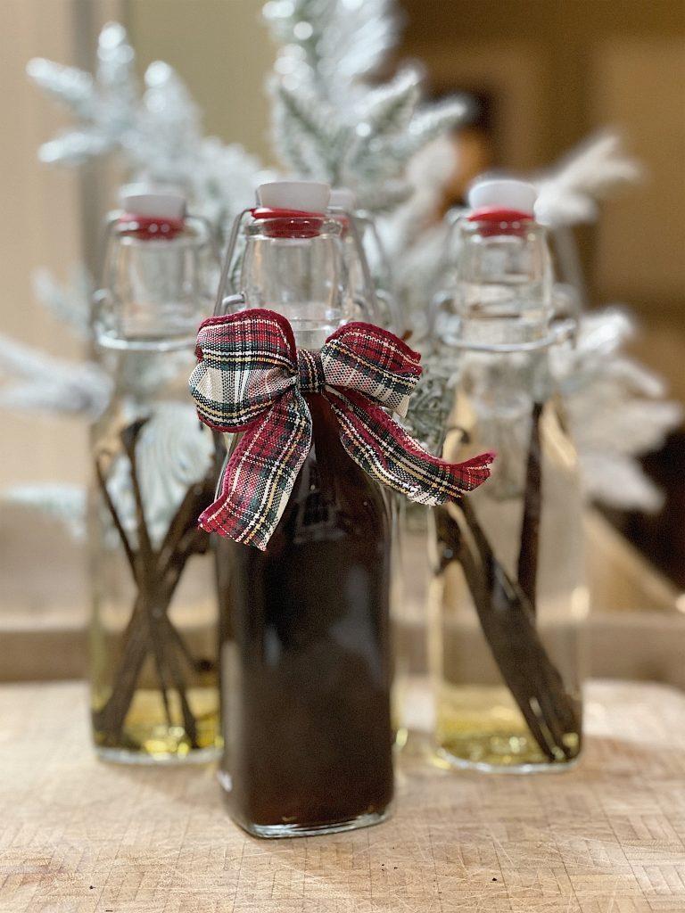 vanilla in glass bottle