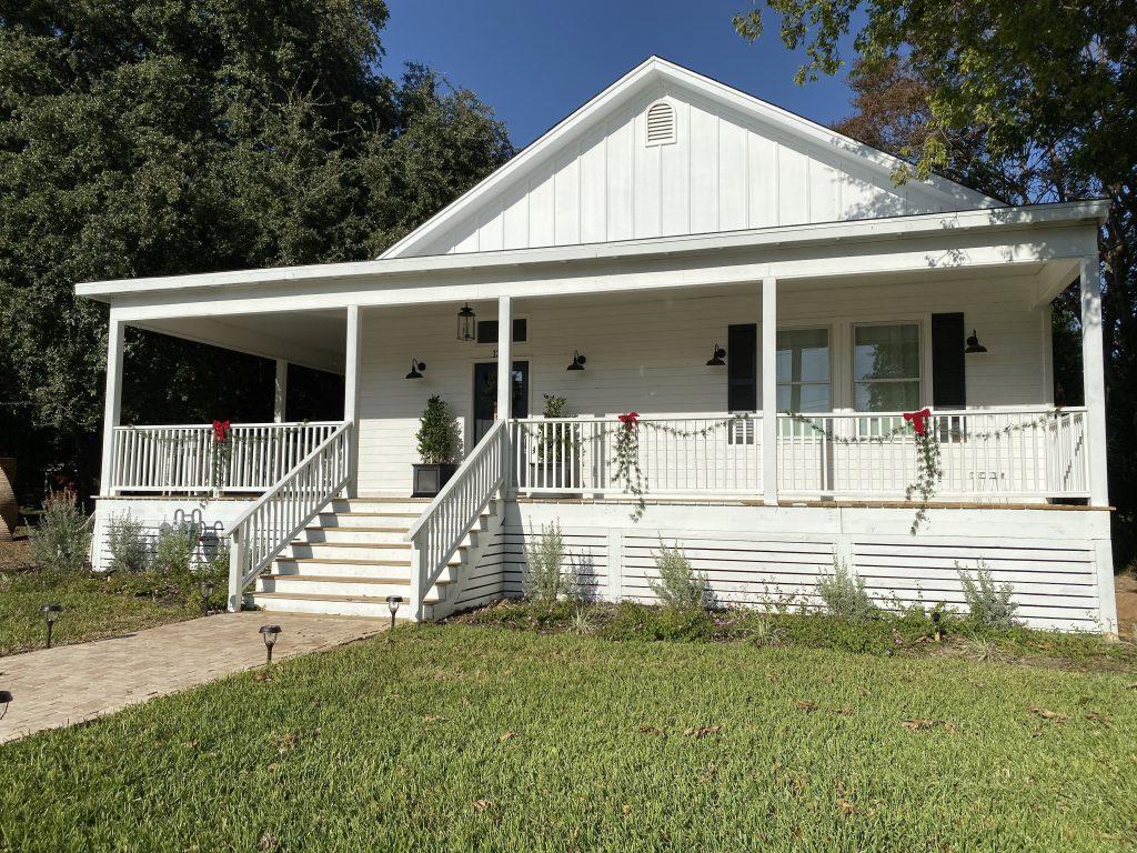 Waco fixer upper exterior airbnb