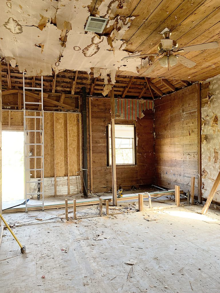 Before photos of the Waco fixer upper kitchen