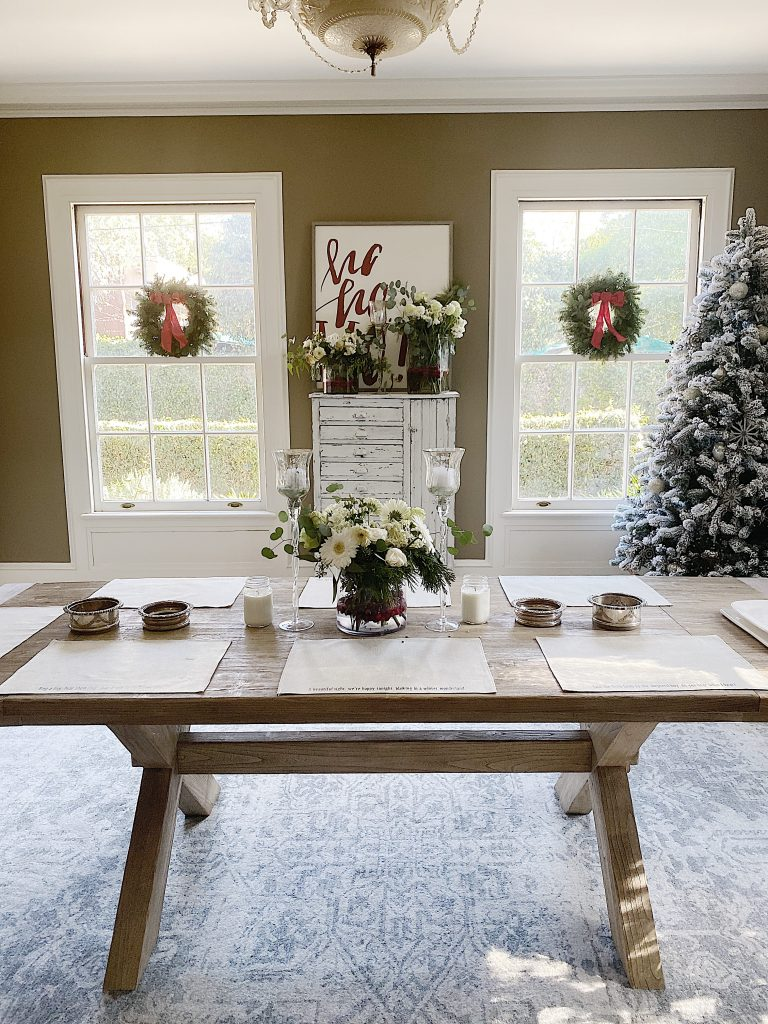 winter decor transition