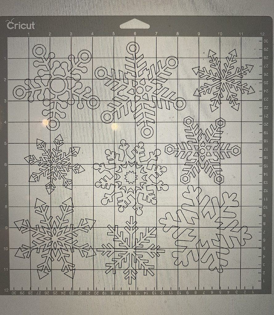 how to make snowflake stamps