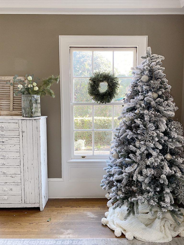 Christmas decor transition