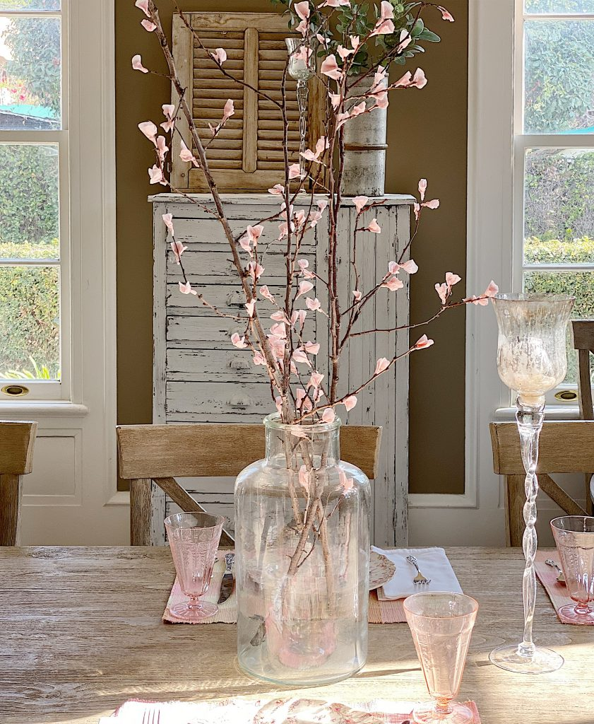 DIY Pink Cherry Blossoms