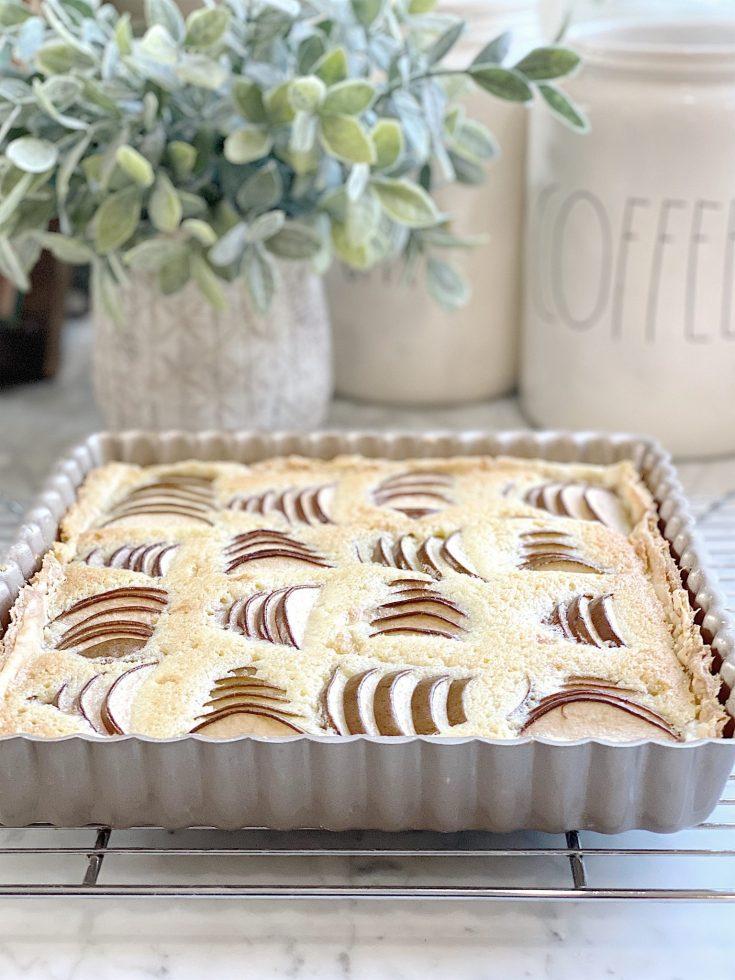 Pear and Almond Cream Bourdaloue Pie