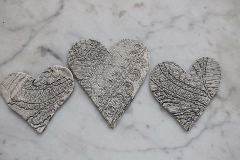 Clay Hearts DIY