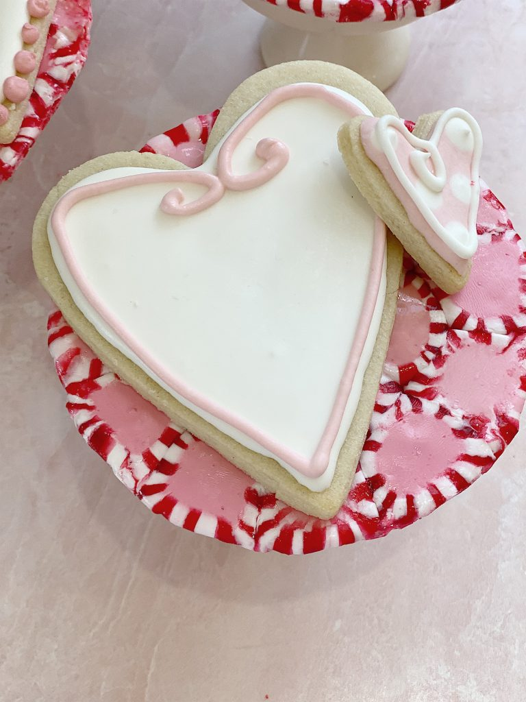 candy peppermint plate