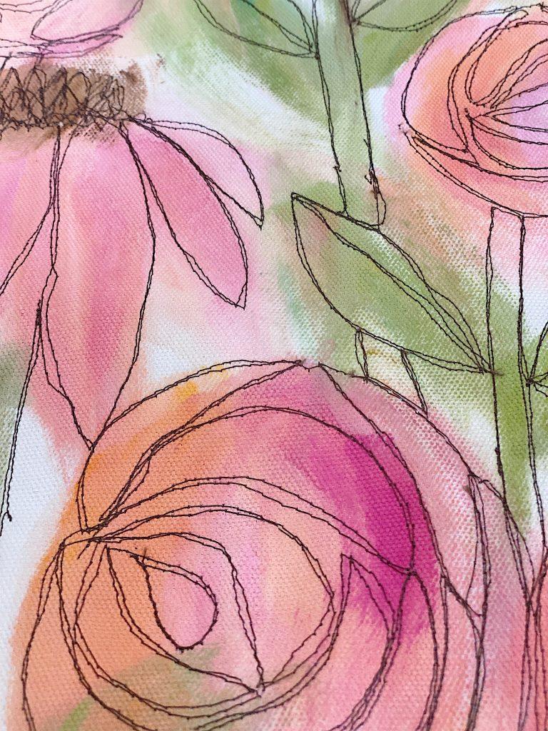 free motion embroidery stitching