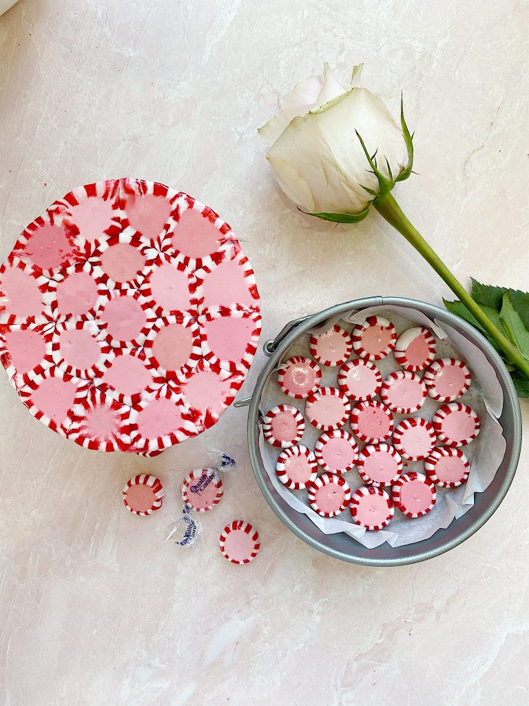 how to make a candy peppermint plate 13