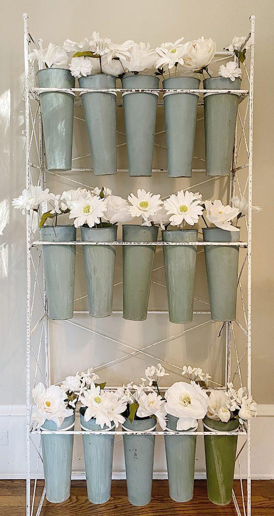 paper flower vintage flower stand