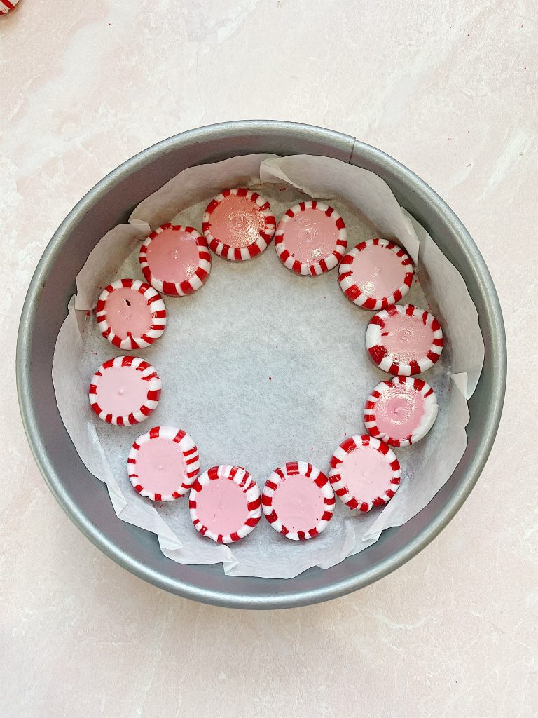 peppermint candy platter