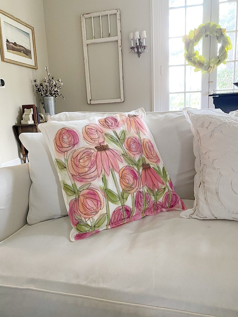spring pillow DIY