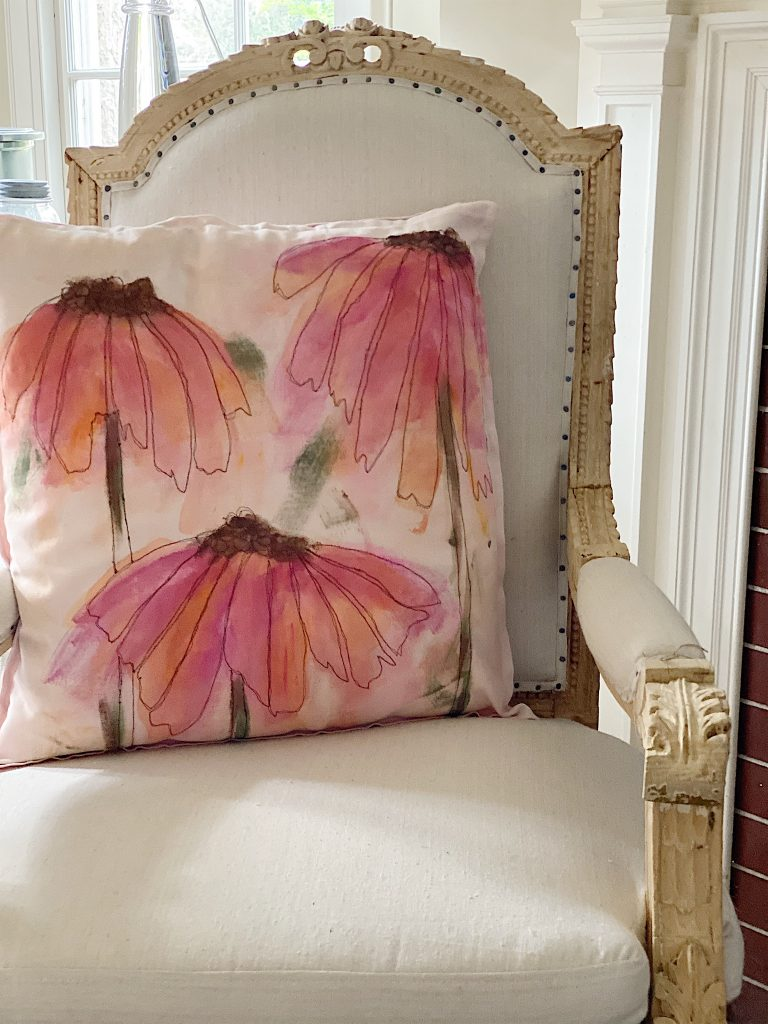 spring painted pillow
