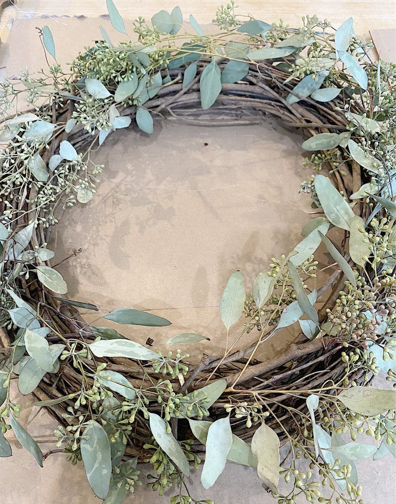 wreath with eucalyptus