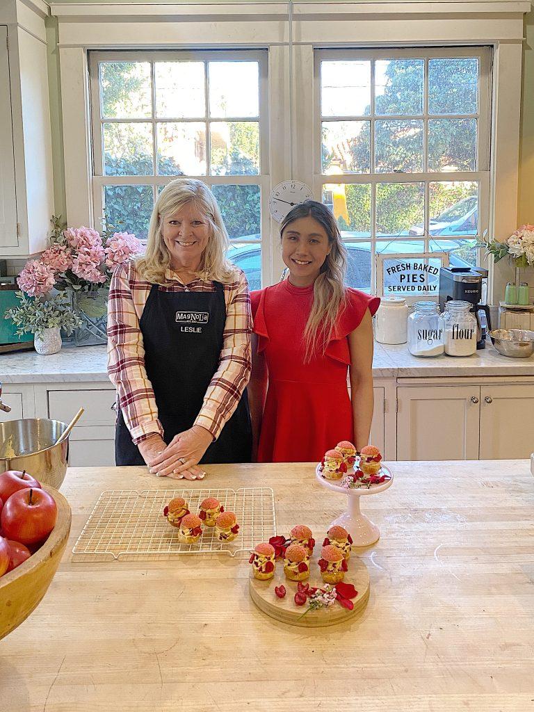 Leslie Saeta and Chef Monique Chen