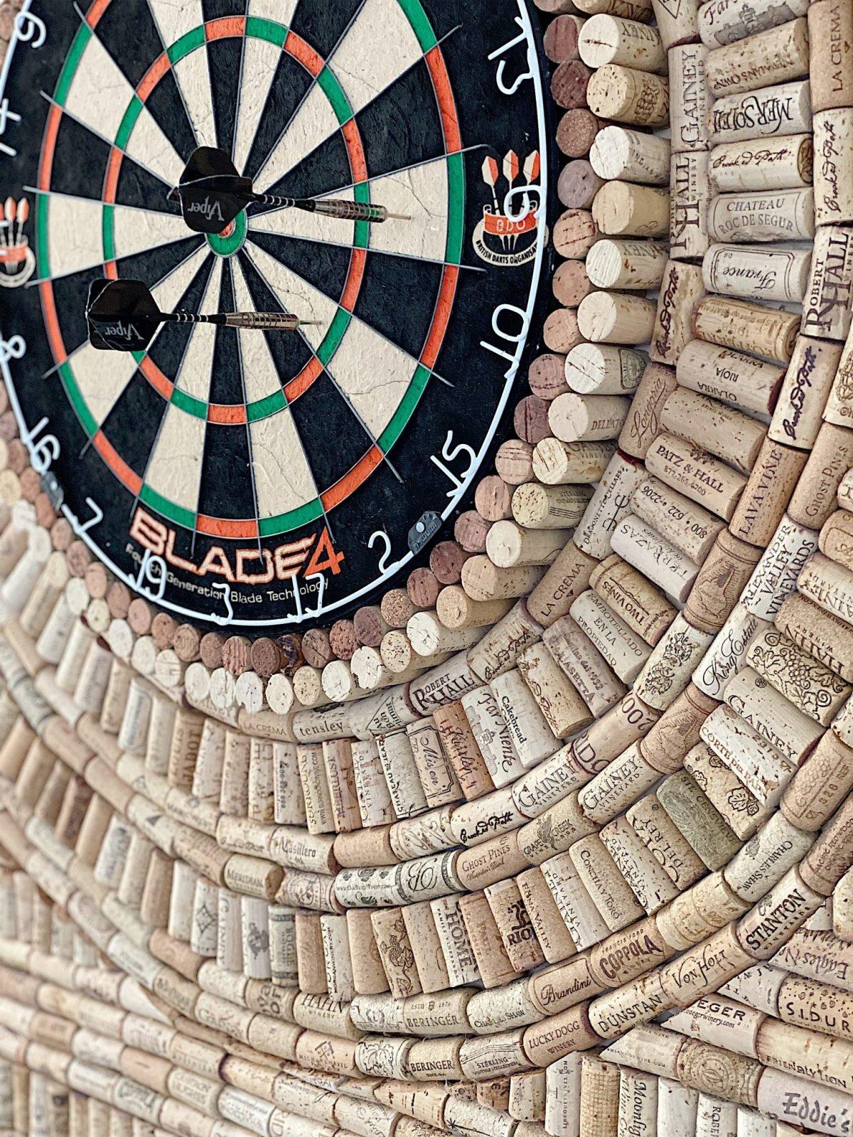 wine cork dartboard