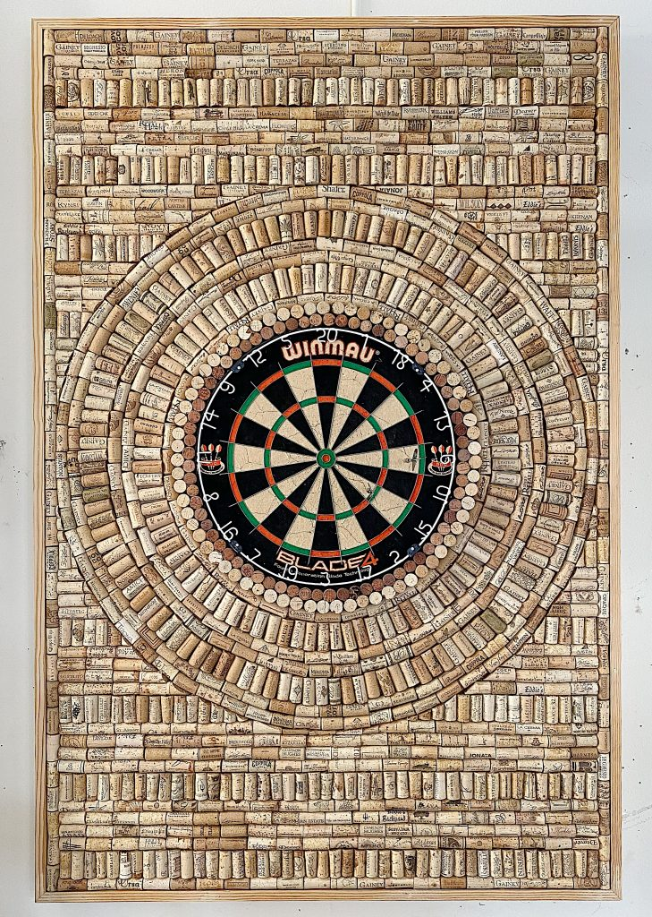 wine cork dartboard