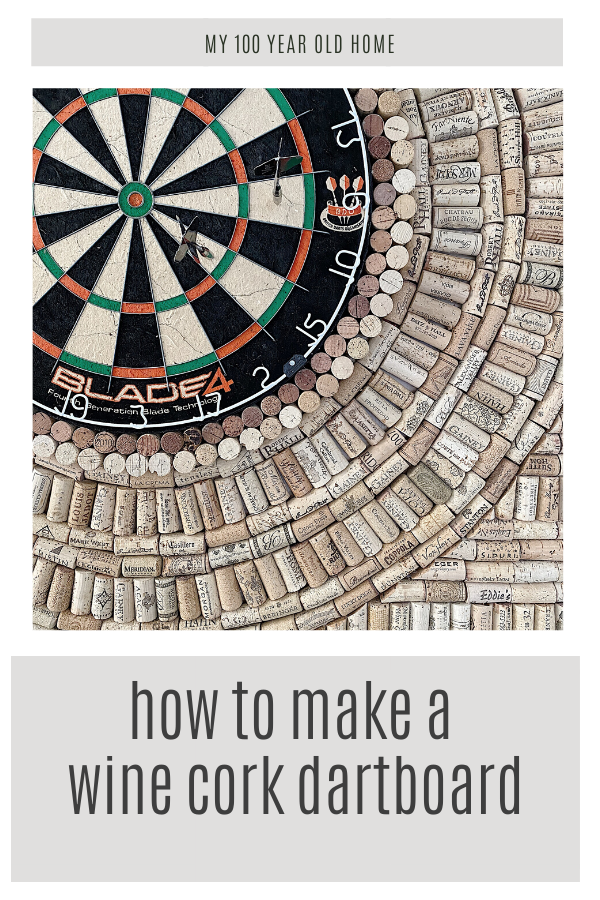 wine cork dartboard diy