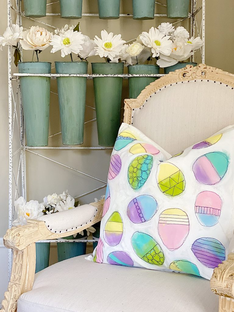 Easter Pillow in Chair