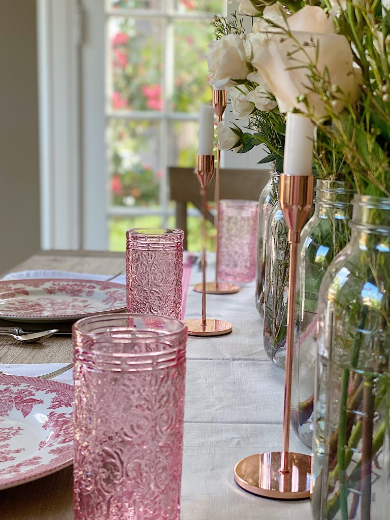How to Use Colored Glass on Your Spring Table