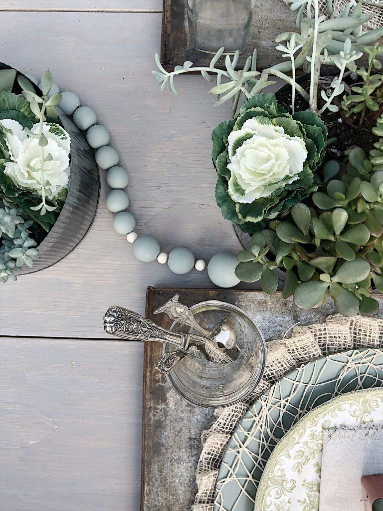 spring garden party table
