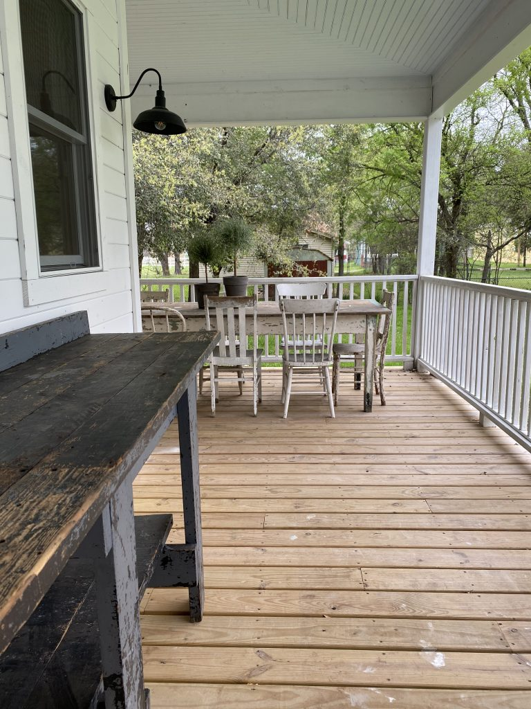 the waco airbnb back porch