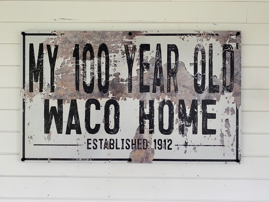 the waco fixer upper welcome sign