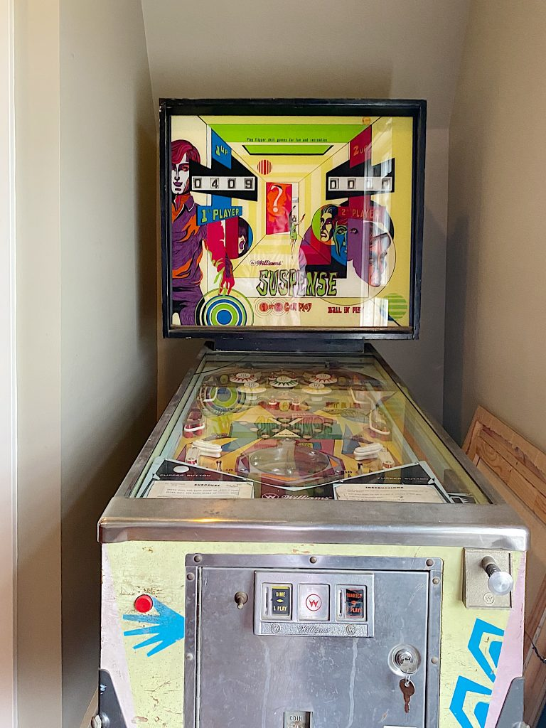 Our vintage pin ball machine
