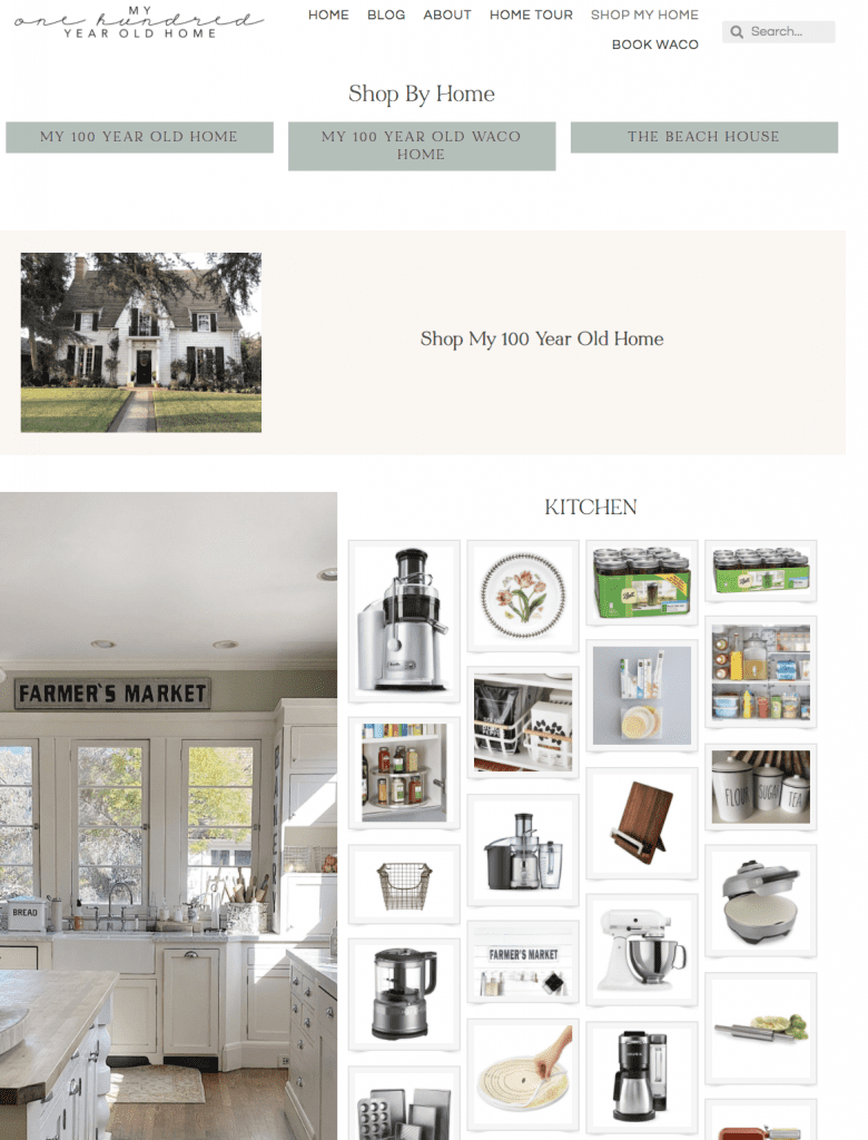 Shop My Home on my new website