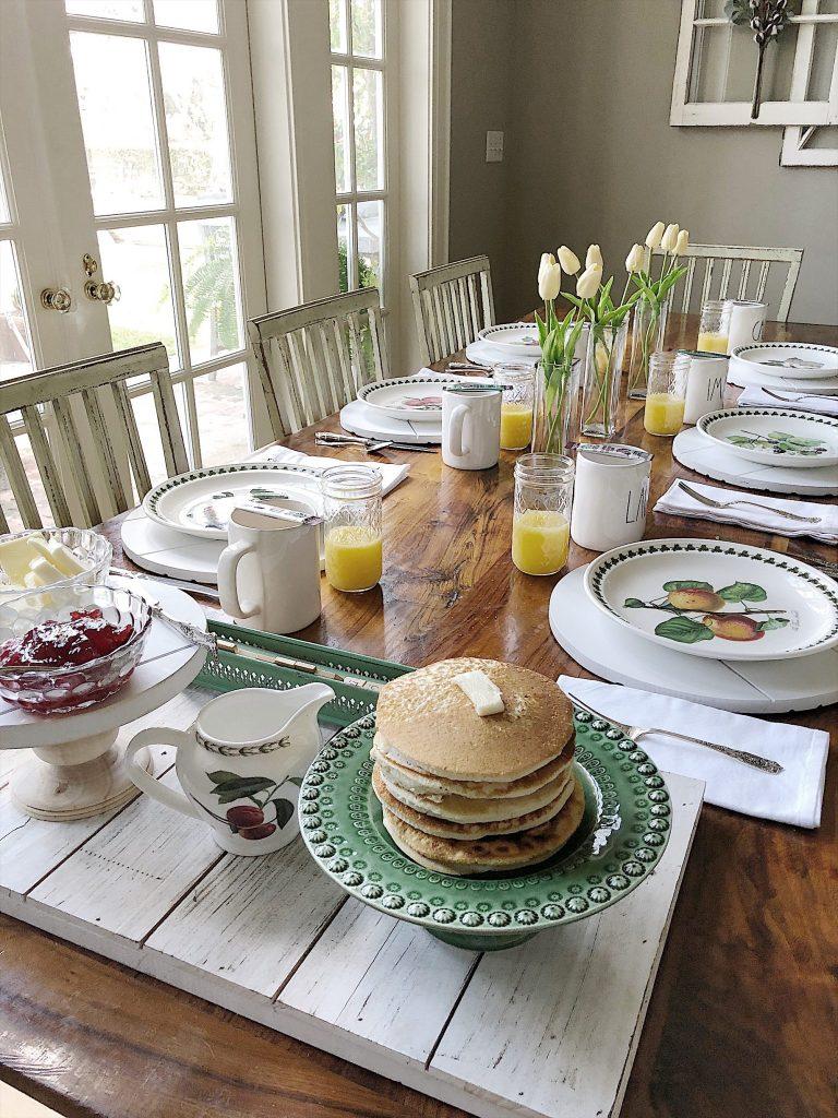 a spring breakfast