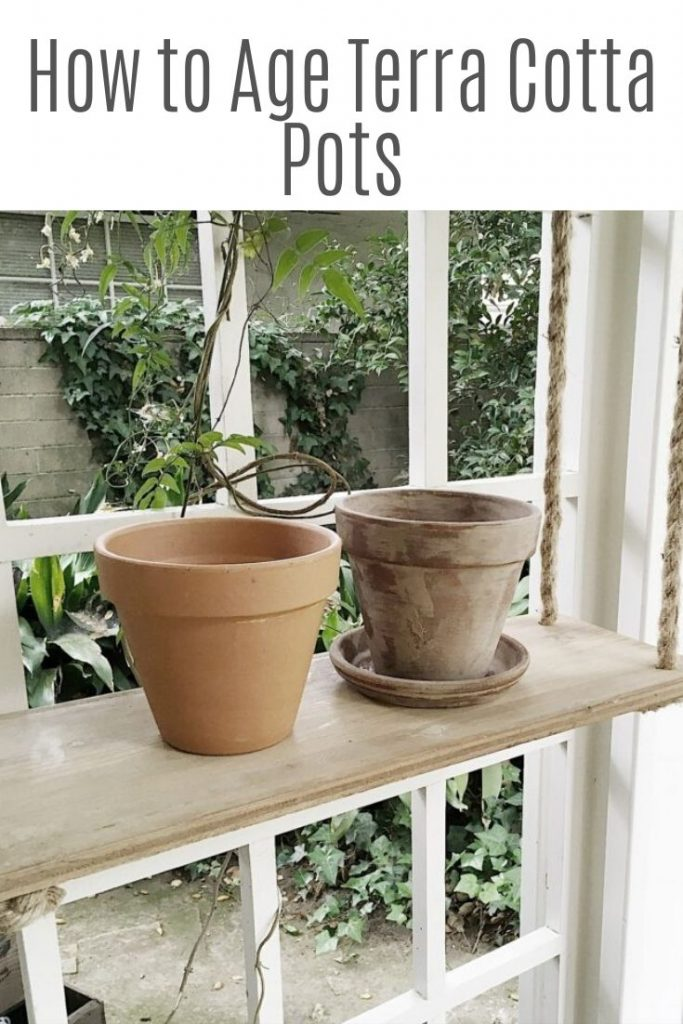 how to age terra cotta pots 2